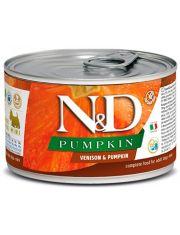 N&D PUMKIN Venison & Pumpkin Adult Mini беззерновой корм для взрослых собак малых пород с олениной и тыквой
