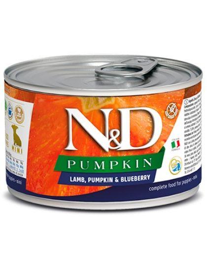 N&D PUMPKIN Lamb, Pumpkin & Blueberry Puppy Mini беззерновой корм  с ягненком, тыквой и черникой для щенков мини пород
