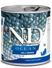 N&D OCEANCod & Pumpkin Puppy беззерновой корм для щенков, беременных и кормящих собак, треска и тыква