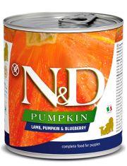 N&D PUMPKIN Lamb, Pumpkin & Blueberry Puppy беззерновой корм с ягненком, тыквой и черникой для щенков всех пород