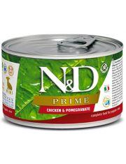 N&D PRIME Chicken & Pomegranate Puppy Mini беззерновой корм для щенков мини-пород, курица и гранат