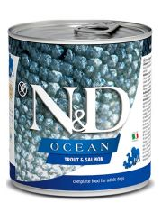 N&D OCEAN Trout & Salmon беззерновой корм для взрослых собак, форель и лосось
