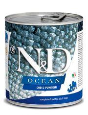 N&D OCEAN Cod & Pumpkin беззерновой корм для взрослых собак, треска и тыква