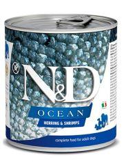 N&D OCEAN Herring & Shrimps беззерновой корм для собак всех пород, сельдь и креветки