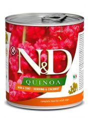 N&D QUINOA Herring & Coconut  беззерновой корм для собак всесех пород, сельдь, киноа и кокос, для красоты шерсти
