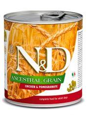 N&D ANCESTRAL GRAIN Chicken & Pomegranate Adult низкозерновой корм  с курицей и гранатом для взрослых собак всех пород