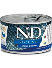 N&D OCEAN Herring & Shrimps Adult Mini беззерновой корм для собак мелких пород сельдь и креветки