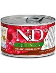 N&D QUINOA Venison & Coconut беззерновой корм для собак малых пород, с киноа, олениной и кокосом, красота и здоровье кожи и шерсти
