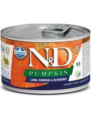 N&D PUMPKIN Lamb, Pumpkin & Blueberry Adult Mini беззерновой корм для собак мини пород с ягненком, тыквой и черникой