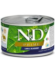 N&D PRIME Lamb & Blueberry Adult Mini беззерновой с ягненкоми черникой для собак мелких пород