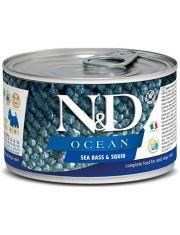 N&D OCEAN Sea Bass & Squid беззерновой корм для собак мелких пород сибас и кальмар