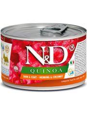 N&D QUINOA Skin&Coat Herring & Coconut mini  беззерновой корм сельдь, кокос и киноа для собак малых пород, красота и зоровье кожи и шерсти