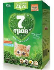 Альпийские луга 7 трав Травка для кошек лоток