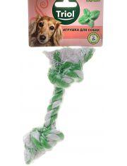 Веревка с ментолом, 2 узла игрушка для собак