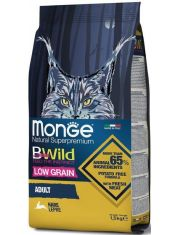 BWild LOW GRAIN низкозерновой корм из мяса зайца для взрослых кошек