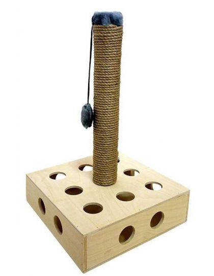 Игрушка для кошек Квадрат со столбиком