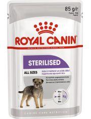Sterilised Canin Adult в паштете для стерилизованных собак в возрасте 10 месяцев и старше, склонных к набору веса