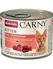 Консервы для котят с говядиной и сердцем индейки
