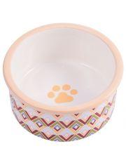 Миска керамическая для собак с орнаментом