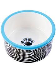 Миска керамическая для собак Зебра