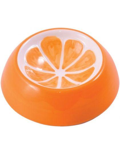 Миска керамическая для грызунов Апельсин