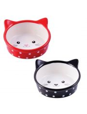 Миска керамическая для кошек Мордочка кошки 250 мл