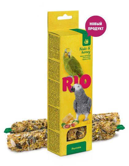 Палочки для попугаев с орехами и медом