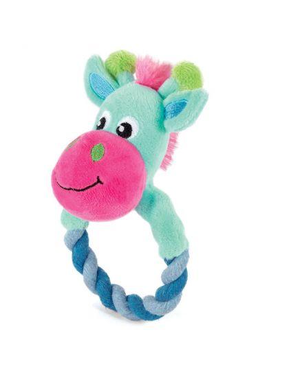 Игрушка PUPPY для щенков мягкая Жираф с кольцом