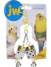 Кубики зеркальные с колокольчиками для птиц