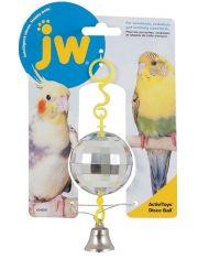 """Игрушка для птиц """"Зеркальный шар с колокольчиком"""""""