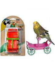 Тележка с жердочкой игрушка для птиц