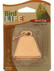Игрушка для птиц колокольчик металлический с карабином