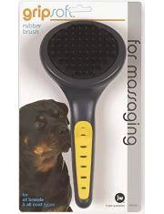 Grip Soft Rubber Brush щетка массажная резиновая для собак