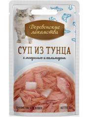 Суп из тунца с кальмаром и макрелью