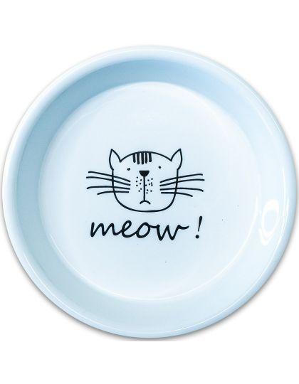 Миска керамическая для кошек  MEOW!, белая