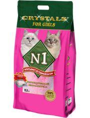 №1 For Girls наполнитель силикагелевый для кошек (розовый)