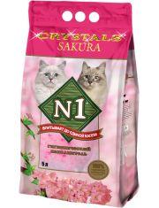 №1 Crystals Sakura - силикагелевый наполнитель с ароматом сакуры