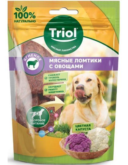 Мясные ломтики из ягненка с цветной капустой для собак