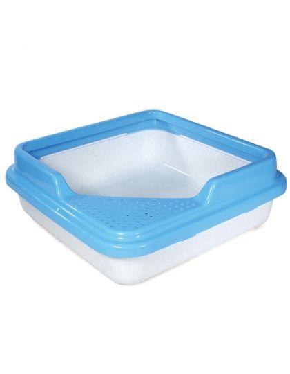 Туалет для кошек квадратный с бортом 435*435*145мм