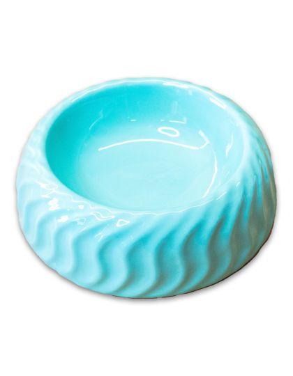 Миска керамическая с волнами бирюзовый