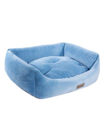 Лежанка прямоугольная Василёк, голубая