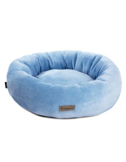Лежанка круглая Василёк, голубая