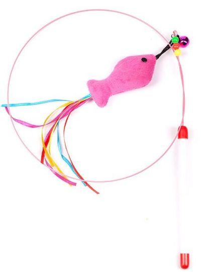 Дразнилка-удочка для кошки Лассо с рыбкой