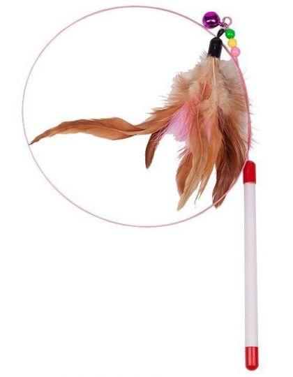 Дразнилка-удочка- Лассо с перьями