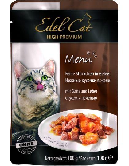 Edel Cat консервы для кошек желе гусь и печень