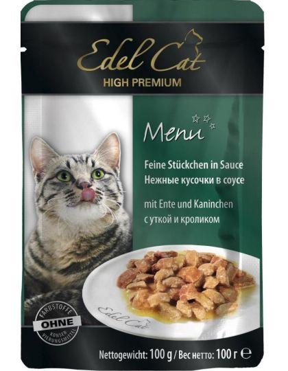 Edel Cat консервы для кошек соус утка и кролик