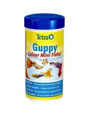 Tetra Guppy Colour Mini Flakes корм для всех видов гуппи, яркий окрас, в виде мини-хлопьев