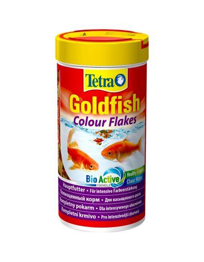 Tetra Goldfish Colour корм для окраса золотых рыбок, хлопья