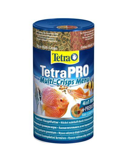 TetraPRO Multi-Crisps Menu корм для всех видов рыб, 4 вида чипсов в одной банке