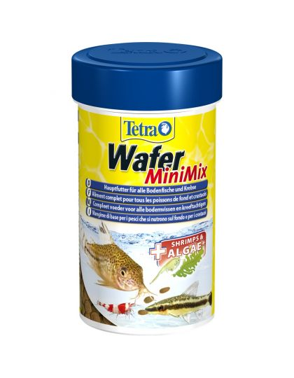 Tetra Wafer Mini Mix для мелких донных рыб и ракообразных, таблетки